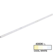 sempriaLED® A Series Model SA9E 42-3/4'' Angled Mini Strip Light Frosted Fixture, Medium Light Output, Cool White 4000k, 42-3/4'' Length x 1/2'' W x 5/8'' H