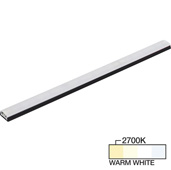 sempriaLED® SG9 Series 48'' LED Strip Light Fixture, Higher Light Output, Black Mount, Warm White 2700k, 48-1/8'' Length x 1-1/4'' W x 1/2'' H