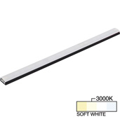 sempriaLED® SG9 Series 42'' LED Strip Light Fixture, Higher Light Output, Black Mount, Soft White 3000k, 42-1/8'' Length x 1-1/4'' W x 1/2'' H