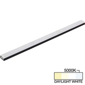 sempriaLED® SG9 Series 12'' LED Strip Light Fixture, Higher Light Output, Black Mount, Daylight White 5000K, 12-1/8'' Length x 1-1/4'' W x 1/2'' H