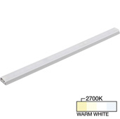 sempriaLED® SG9 Series 42'' LED Strip Light Fixture, Higher Light Output, Grey Mount, Warm White 2700k, 42-1/8'' Length x 1-1/4'' W x 1/2'' H