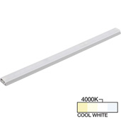 sempriaLED® SG9 Series 24'' LED Strip Light Fixture, Higher Light Output, Grey Mount, Cool White 4000k, 24-1/8'' Length x 1-1/4'' W x 1/2'' H