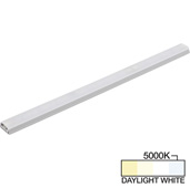 sempriaLED® SG9 Series 24'' LED Strip Light Fixture, Higher Light Output, Grey Mount, Daylight White 5000k, 24-1/8'' Length x 1-1/4'' W x 1/2'' H