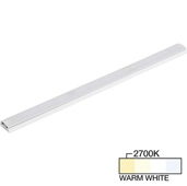 sempriaLED® SG9 Series 18'' LED Strip Light Fixture, Higher Light Output, White Mount, Warm White 2700k, 18-1/8'' Length x 1-1/4'' W x 1/2'' H