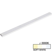 sempriaLED® SG9 Series 18'' LED Strip Light Fixture, Higher Light Output, White Mount, Soft White 3000k, 18-1/8'' Length x 1-1/4'' W x 1/2'' H