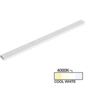 sempriaLED® SG9 Series 12'' LED Strip Light Fixture, Higher Light Output, White Mount, Cool White 4000K, 12-1/8'' Length x 1-1/4'' W x 1/2'' H
