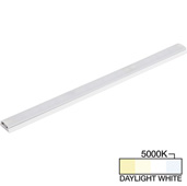 sempriaLED® SG9 Series 30'' LED Strip Light Fixture, Higher Light Output, White Mount, Daylight White 5000k, 30-1/8'' Length x 1-1/4'' W x 1/2'' H