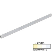 sempriaLED® S Series Model SS9E 24-3/4'' LED Angled Strip Light Fixture with Shield, Medium Light Output, Warm White 2700K, 24-3/4'' Length x 3/4'' W x 11/16'' H