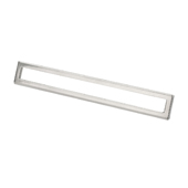 Italian Designs Collection Bent Rectangular Pull in Polished Satin Nickel, 6-3/4''W x 1-1/2''D x 1-1/2''H  (CTC 5'')