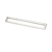 Italian Designs Collection Bent Rectangular Pull in Bright Chrome, 6-3/4''W x 1-1/2''D x 1-1/2''H (CTC 5'')