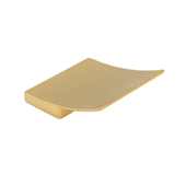 Italian Designs Collection Curved Square Pull in Matte Brass, 2''W x 1''D x 2''H (CTC 1-1/4'')