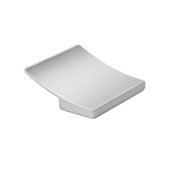 Italian Designs Collection Curved Square Pull in Satin Nickel, 2''W x 1''D x 2''H (CTC 1-1/4'')