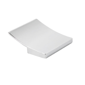 Italian Designs Collection Curved Square Pull in Bright Chrome, 2''W x 1''D x 2''H (CTC 1-1/4'')