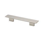 Italian Designs Collection Rectangular Pull in Satin Nickel,  9-3/4''W x 1-1/4''D x 1-1/4''H (CTC 6-5/16'' or 7-9/16'')