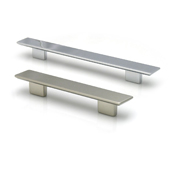 Italian Designs Collection Rectangular Pull in Bright Chrome, 9-3/4''W x 1-1/4''D x 1-1/4''H (CTC 6-5/16'' or 7-9/16'')