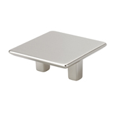 Italian Designs Collection Medium Size Square Pull in Satin Nickel, 2-1/4''W x 1''D x 1-1/4''H (CTC 1-1/4'')