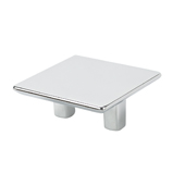 Italian Designs Collection Medium Size Square Pull in Bright Chrome, 2-1/4''W x 1''D x 1-1/4''H (CTC 1-1/4'')