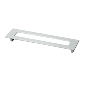 Italian Designs Collection Rectangular Pull with Hole in Bright Chrome, 6''W x 1''D x 2-1/4''H or 8-1/2''H (CTC 5'')