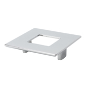 Italian Designs Collection Square Pull with Hole in Bright Chrome, 3-1/2''W x 1''D x 2-1/2''H (CTC 2-1/2'')