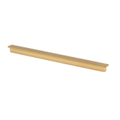 Italian Designs Collection Long Ruler Pull in Matte Brass,  8-1/4''W x 1/2''D x 1/2''H