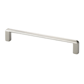 Italian Designs Collection Thin Modern Cabinet Pull in Satin Nickel , 5-1/4''W x 1''D x 1/8''H (CTC 5'')