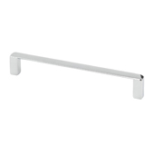 Italian Designs Collection Thin Modern Cabinet Pull in Bright Chrome, 5-1/4''W x 1''D x 1/8''H (CTC 5'')