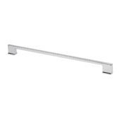Italian Designs Collection Thin Square Cabinet Pull Handle in Bright Chrome, 13''W x 1''D x 3/8''H (CTC 12-9/16'')