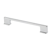 Italian Designs Collection Thin Square Cabinet Pull Handle in Bright Chrome, 6-5/8''W x 1''D x 3/8''H (CTC 5'' or 6-5/16'')