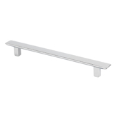 Italian Designs Collection Thin Rectangular Pull in Bright Chrome, 6-5/8''W x 7/8''D x 1/2''H (CTC 5'')