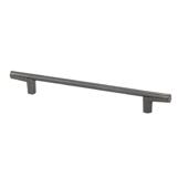 Italian Designs Collection Thin Round Bar Cabinet Pull Handle in Dark Bronze, 8-1/2''W x 1-1/8''D x 1/4''H (CTC 6-5/16'')