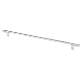 Italian Designs Collection Thin Round Bar Cabinet Pull Handle in Bright Chrome, 14-7/8''W x 1-1/8''D x 1/4''H (CTC 12-9/16'')