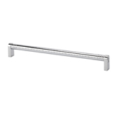Italian Designs Collection Round Appliance Pull in Bright Chrome, 13''W x 1-3/4''D x 3/4''H (CTC 12-9/16'')