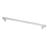 Italian Designs Collection Square Transitional Cabinet Pull in Bright Chrome, 14-1/2''W x 1-1/2''D x 1/8''H (CTC 12-9/16'')
