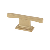 Italian Designs Collection Thin Square Transitional T Cabinet Pull in Matte Brass, 2-1/2''W x 1''D x 1/8''H (CTC 5/8'')