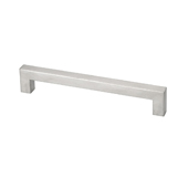 Square Stainless Steel Collection Square Pull, 4-1/2''W x 1-1/2''D x 7/16''H (CTC 3-11/16'')