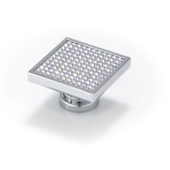 Crystal Collection Large Square Knob with Round Swarovski Crystals in Bright Chrome, 1-3/4''W x 1-3/4''H x 1-3/4''D