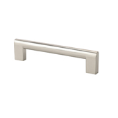 Contemporary Collection Flat Edge Pull in Stainless Steel Look 8-1/4''W x 1-3/8''D x 7/16''H (CTC 5'')