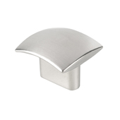 Contemporary Collection Small Rectangular Knob in Stainless Steel Look, 1-5/16''W x 1-3/16''D x 1-3/16''H (CTC 1-5/16'')