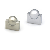 Contemporary Collection Knob in Stainless Steel Look, 1/2''W x 1''D x 1''H (CTC 5/8'')