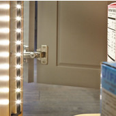 Elli V 29'' Length LED Strip for Cabinets, 45 Degree Angle, 3500K, Aluminum