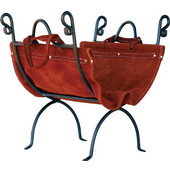 - Log Holder with Suede Leather Carrier