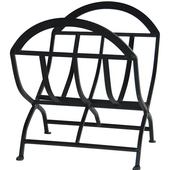 - Wrought Iron Log Rack, Black
