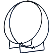 - 24'' Dia. Log Hoop, 1/2'' Solid Stock, Black