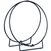 - 36'' Dia. Log Hoop, 1/2'' Solid Stock, Black