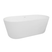 AVOS 59'' White Oval Freestanding Acrylic Insulated Bathtub, 58-7/16'' W x 31-1/8'' D x 21-5/8'' H