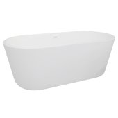 AVOS 63'' White Oval Freestanding Acrylic Insulated Bathtub, 62-1/4'' W x 29-1/4'' D x 23-1/4'' H