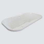 Bordeaux Contemporary 66'' W x 36'' D White Acrylic Contoured Drop-In Bathtub, 66'' W x 36'' D x 23-1/2'' H