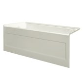 eSPACE 54'' W x 30'' D Biscuit Acrylic Bathtub with Integral Designer Skirt with Left Hand Drain, 54'' W x 30'' D x 22'' H