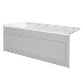 eSPACE 54'' W x 30'' D White Acrylic Bathtub with Integral Designer Skirt with Left Hand Drain, 54'' W x 30'' D x 22'' H