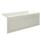 eSPACE 54'' W x 30'' D Biscuit Acrylic Bathtub with Integral Designer Skirt with Right Hand Drain, 54'' W x 30'' D x 22'' H
